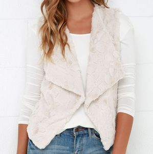 Jack by BB Dakota | ivory cream faux fur vest NWT